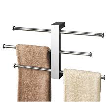 towel bar with towel. Gedy Bridge Towel Rail Set Wall Mounted Chrome - 7630-13 Bar With