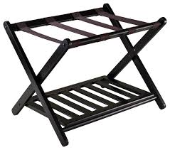 bedroom winsome closet: reese luggage rack with shelf dark espresso transitional closet organizers
