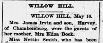 James Irvin, Ida, Harvey, & Eliza Bock - Newspapers.com