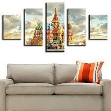 5 piece moscow kremlin large wall paintings jpg