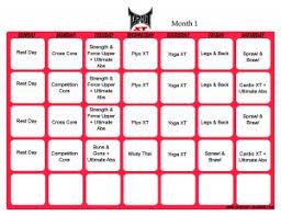 vertical printable tapout xt workout calendar