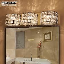 bathroom light sconces. Fast Shippment Luxurious Crystal Wall Lamp Chrome Aisle Hallway Sconces Bedroom Bathroom Light Lustre 3 Lights MD81633-in Lamps From T