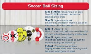 Soccer Ball Size Chart Soccer Information Hart Sport New Zealand