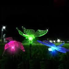 Dragonfly Garden Lights Cojoy Outdoor Garden Solar Lights Solar Stake Light Multi