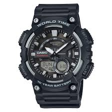 buy men s watches at argos co uk your online shop for jewellery more details on casio world time telememo black combi watch