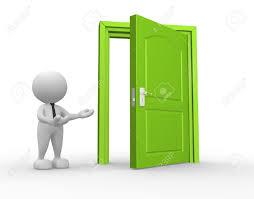 open front door welcome. 3d People - Man, Person And A Open Door. Businessman Stock Photo 15428894 Front Door Welcome