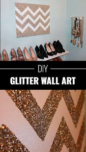 cool diy crafts made with glitter sparkly creative projects and ideas for the bedroom clothes shoes gifts wedding and home decor diy glitter wall
