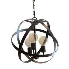 reese orb 3 light black chandelier