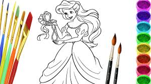 Small Picture Drawing Little Mermaid Coloring Pages Disney Princess Colouring