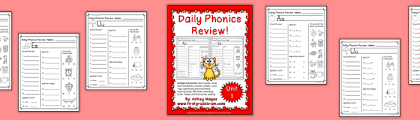 So you have a first grader? Daily Phonics Review Sheets Works With Or Without Scott Foresman Reading Street