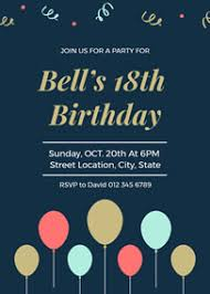 Free Online Birthday Invitations To Email Online Invitation Maker Design Invitation Cards With Free
