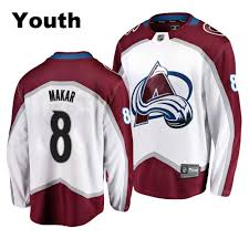 19 Avalanche 20 Makar White Youth Colorado Cale Jersey Breakaway|Unwell WILL 89