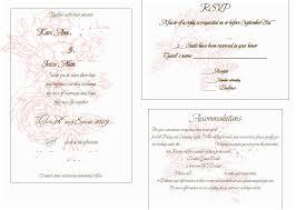 Wedding Insert Templates Wedding Invitation Insert Templates Wedding Invitation