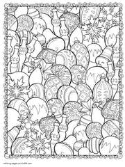 Vector ornate monochrome christmas decorations. 45 Free Christmas Coloring Pages For Adults 2017
