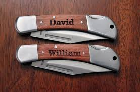 3 personalized end wood gentlemen s knife groomsmen knife wedding party knife end knife mens gifts personalized wood knife
