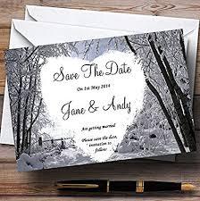 Winter Wedding Save The Date Amazon Com Winter Snow Scene Personalized Wedding Save The Date