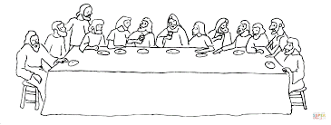 Small Picture The Last Supper coloring page Free Printable Coloring Pages