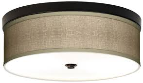 lamps plus giclee ceiling light in burlap bronze 149