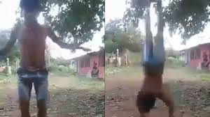 boy performs 30 summersaults in a go