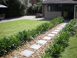 Small Picture The path to the back of the house after laying pavers and pebbles