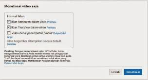 Hasil gambar untuk klik monetisasi youtube