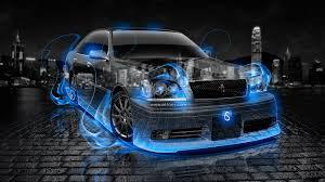 toyota crown athlete jdm fire crystal car