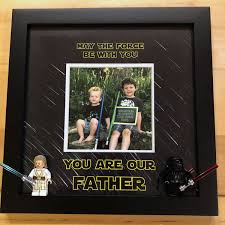 lego stars wars father s day frame diy project instagram photo