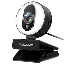 Camera Light On Computer Hd Webcam 1080p For Streaming With Ring Light External Computer Web Camera With Dual Microphone Autofocus Camera For Pc Laptop Desktop Mac Video
