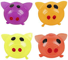 Anti-Stress Jello Pig Cute Toys Red/Yellow/Orange/Purple Splat ...