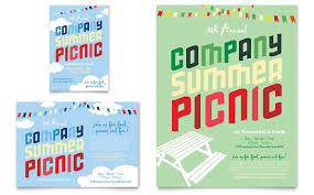 Picnic Flyers Company Summer Picnic Flyer Ad Template Design
