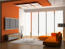 Orange Couch Living Room Living Room Decorating Ideas With Orange Couch And A Mixture Of