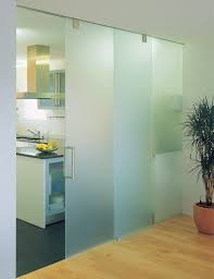fixed or sliding glass panels double glass door in an office building