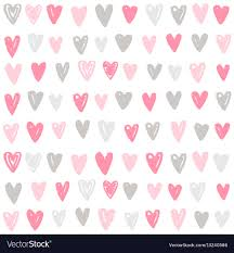 Cute Paint Hand Drawn Hearts Background Royalty Free Vector