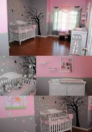 white furniture nursery. Our Little Girls Nursery, Nursery Tree, Pink And Grey, White Furniture, Elephants, Headband Holder, Rack. Furniture B