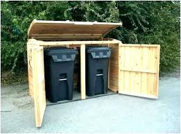 outdoor garbage can enclosure outside bin storage container plans
