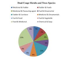 The Pie Chart Showing Percentages Of Single Usage Shrubs And