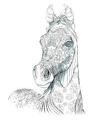 Realistic Horse Coloring Pages Horse Coloring In Pages Free Horse