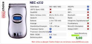 NEC e232 :: GSMchoice.com