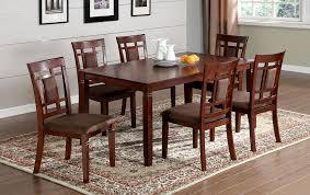 amazon furniture of america cartiere 7 piece dining table set dark cherry finish table chair sets