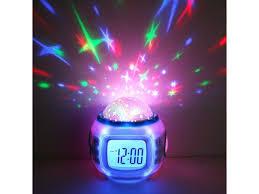 children room sky star night light projector lamp bedroom alarm clock w