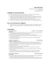 summary of qualifications for resume resume badak writing a summary of qualifications resume