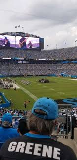 Carolina Panthers Seating Chart With Rows Bank Of America Stadium Section 233 Home Of Carolina Panthers