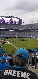 Greene Stadium Seating Chart Bank Of America Stadium Section 233 Home Of Carolina Panthers