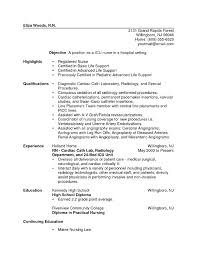 Sample Nursing Resume For New Graduate