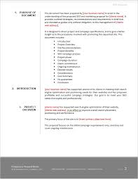 Cost Proposal Templates Seo Proposal Template 82