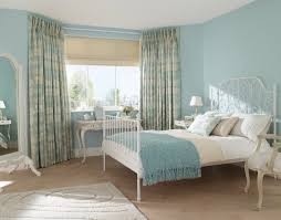sketch of interior with sheer curtain for undisguised outdoor view duck egg blue bedroomduck