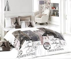 100% Cotton 4pcs Paris Vintage Gray Full Double Size Duvet Cover ... & Buy Online Decorative Cotton Paris in Autumn Single Twin Size Duvet Quilt  Cover Set Eiffel Theme Bedding Linens for your bed set. Adamdwight.com
