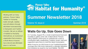 News Letters Newsletters Pioneer Valley Habitat For Humanity