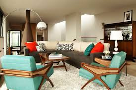 ... Retro Living Room Decorating Design Sofa Accent Chairs ...