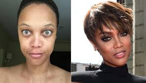 one of the top trending topics on facebook curly is tyra banks the model and a mogul recently took a selfie sans make up and posted the photo